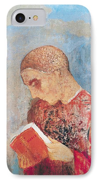 Alsace Or Monk Reading IPhone Case by Odilon Redon