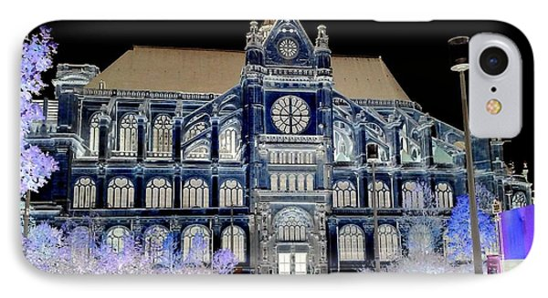 Altered Image Of Saint Eustache In Paris France IPhone Case by Richard Rosenshein