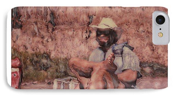 Altered Polaroid - Raft Master Matt IPhone Case by Wally Hampton