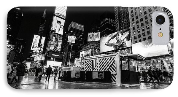 Alternate View Of Times Square  IPhone Case by John Farnan