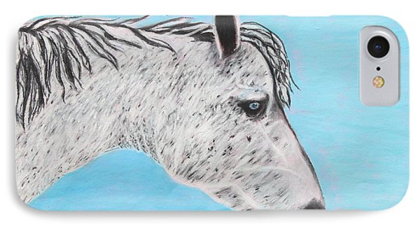 IPhone Case featuring the painting Alvaro Stallion by Jeanne Fischer