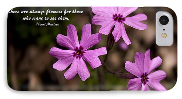 Always Flowers IPhone Case by Marilyn Carlyle Greiner