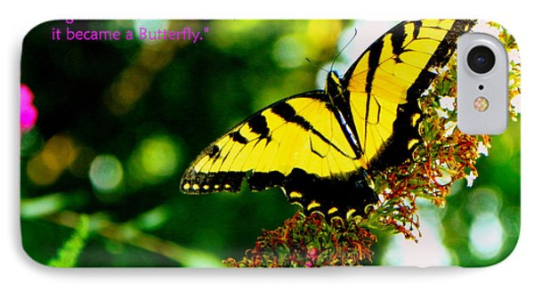 Always Hope - Butterfly IPhone Case by Shelia Kempf