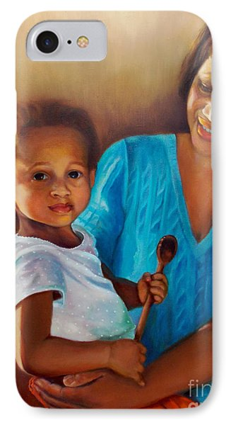 IPhone Case featuring the painting Always In Her Heart And In Her Hands by Marlene Book