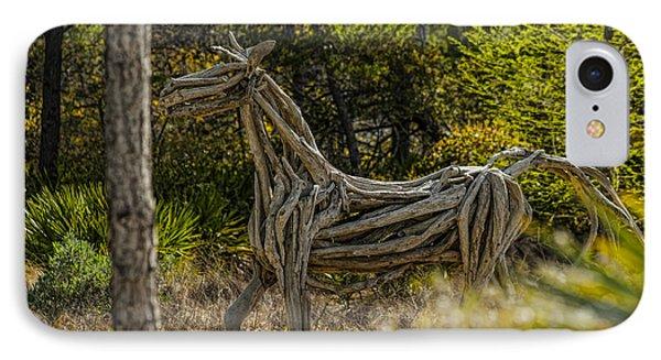 Alys Beach Driftwood Horse Phone Case by Frank Feliciano
