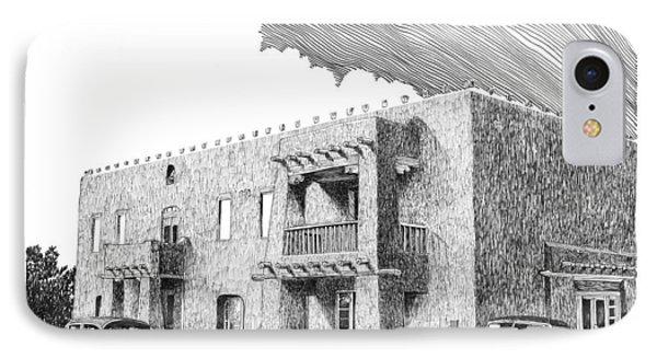 Amador Hotel In Las Cruces N M Phone Case by Jack Pumphrey