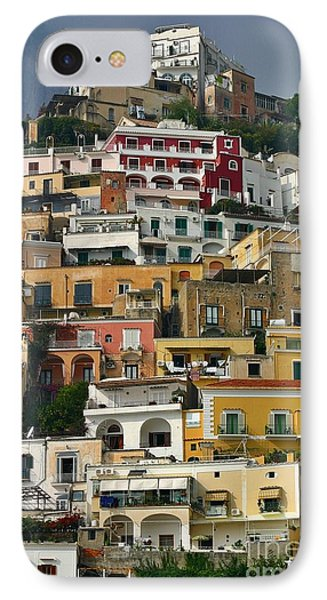 IPhone Case featuring the photograph Amalfi Houses by Henry Kowalski