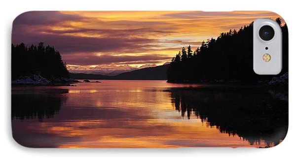 Amalga Harbor Sunset IPhone Case