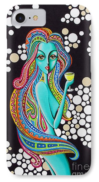 IPhone Case featuring the painting Amanda  Groovy Chick Series by Joseph Sonday