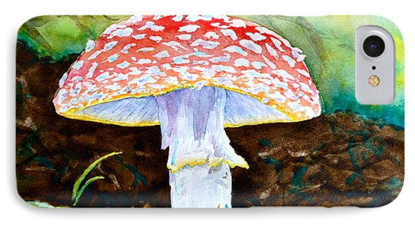 Amanita And Lacewing Phone Case by Beverley Harper Tinsley