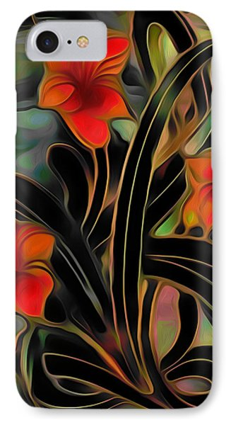 Amaryllis IPhone Case by  Fli Art