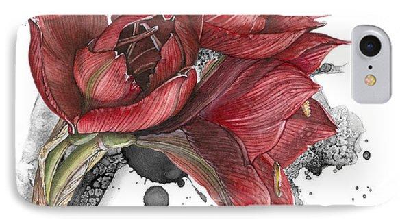 Amaryllis Flowers - 2. -  Elena Yakubovich IPhone Case by Elena Yakubovich