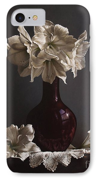 Amaryllis  IPhone Case by Larry Preston