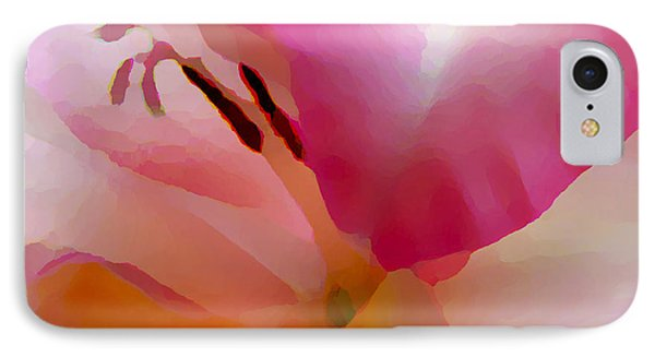 Gladiola Photo Painting IPhone Case by Rich Collins