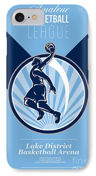 Amateur Basketball League Retro Poster IPhone Case by Aloysius Patrimonio