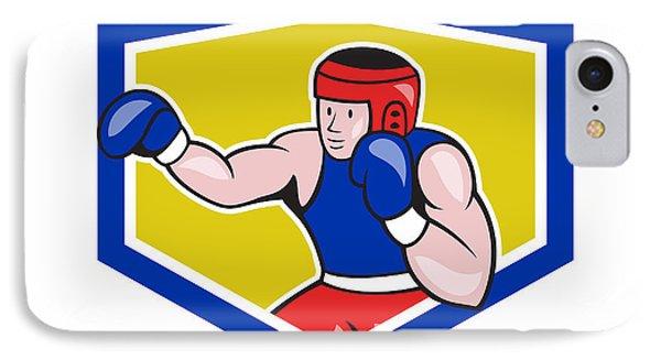 Amateur Boxer Boxing Shield Cartoon IPhone Case