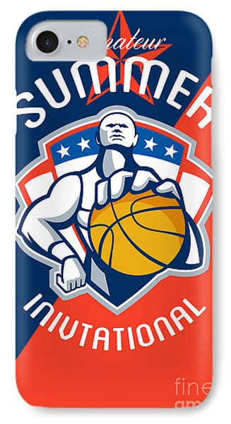 Amateur Summer Invitational Basketball Poster IPhone Case by Aloysius Patrimonio