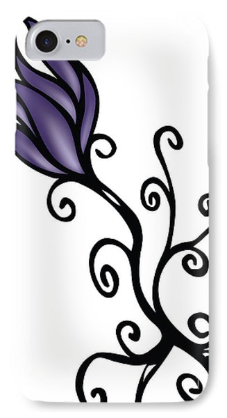 IPhone Case featuring the digital art Amathist Rose by Jamie Lynn