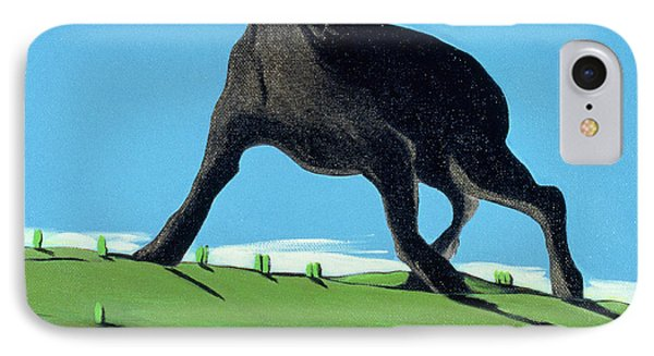 Amazing Black Dog, 2000 Phone Case by Marjorie Weiss