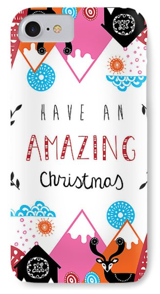 Amazing Christmas IPhone Case by Susan Claire