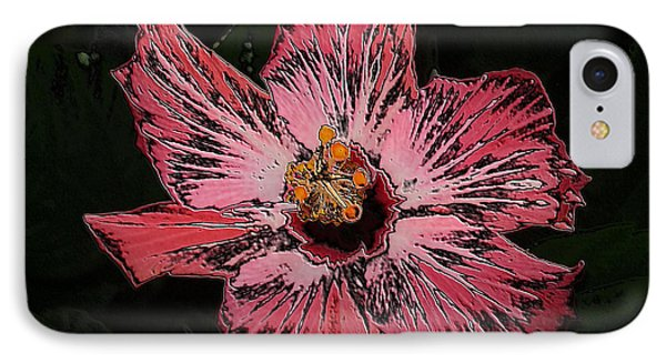 IPhone Case featuring the digital art Amazing Flower by Oksana Semenchenko