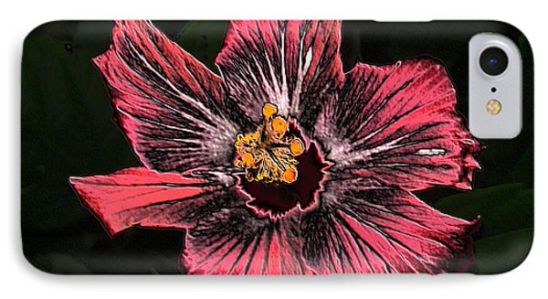 IPhone Case featuring the digital art Amazing Hibiscus by Oksana Semenchenko