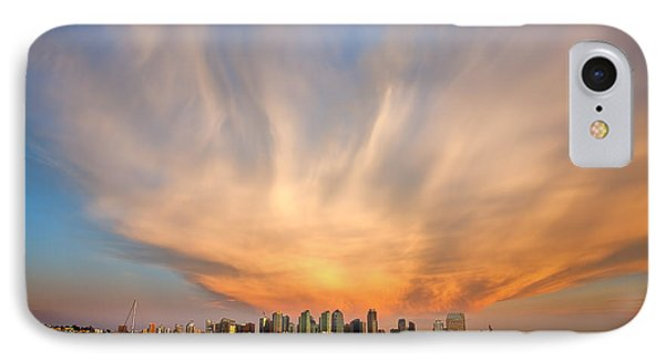 Amazing San Diego Sky Phone Case by Peter Tellone