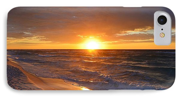 IPhone Case featuring the photograph Amazing Sunrise Colors And Waves On Navarre Beach by Jeff at JSJ Photography