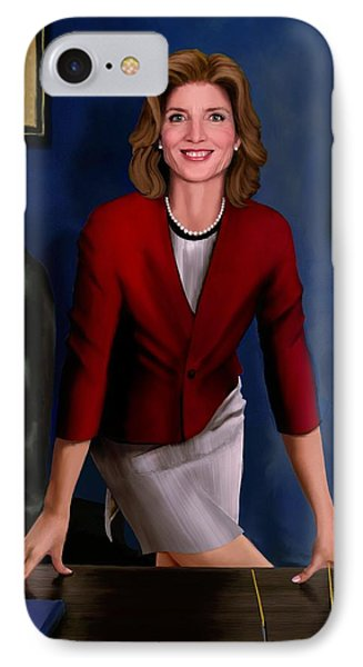 Ambassador Kennedy At Her Desk IPhone Case by Jann Paxton