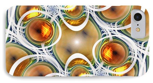 Amber Clusters Phone Case by Anastasiya Malakhova