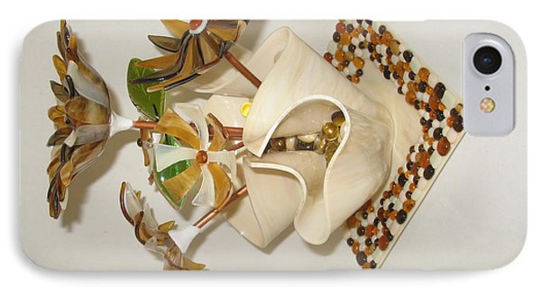 Amber Flowers Phone Case by Steven Schramek