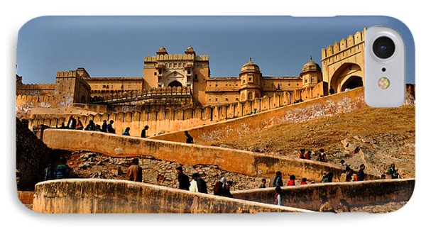 Amber Fort IPhone Case by Diane Lent