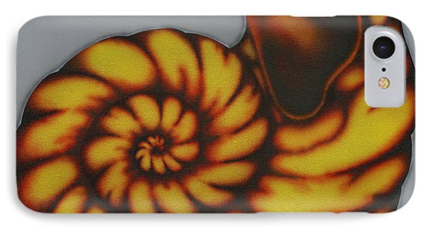 IPhone Case featuring the painting Amber. by Kenneth Clarke