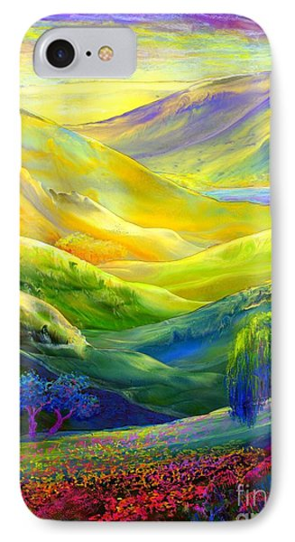 Wildflower Meadows, Amber Skies IPhone Case