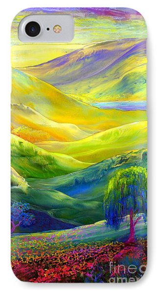 Wildflower Meadows, Amber Skies IPhone Case by Jane Small