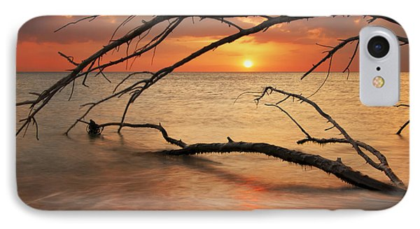 IPhone Case featuring the photograph Amber Sunset by Gouzel -