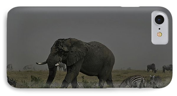 IPhone Case featuring the photograph Amboseli Giant by Gary Hall