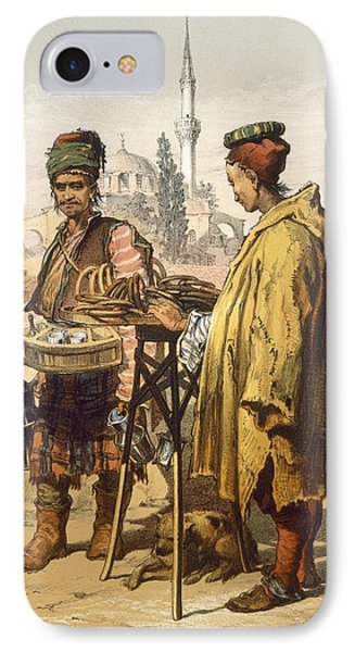 Ambulant Snack Sellers, 1865 IPhone Case by Amadeo Preziosi