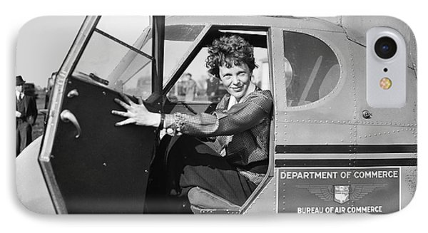 Amelia Earhart - 1936 IPhone Case by Daniel Hagerman
