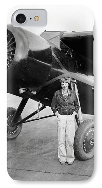 Amelia Earhart And Her Plane IPhone Case