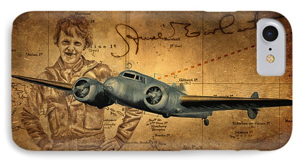 Amelia Earhart Phone Case by Dale Jackson