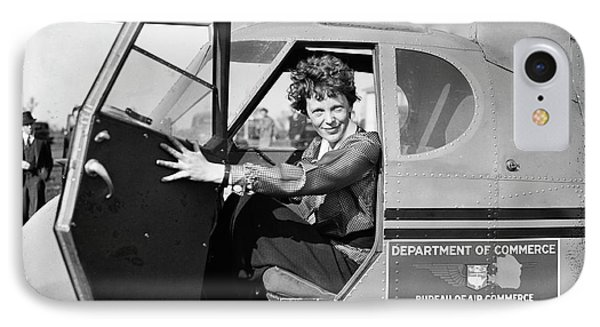 Amelia Earhart IPhone Case by Library Of Congress