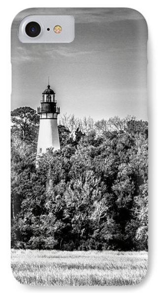 Amelia Island Lighthouse IPhone Case by Wade Brooks