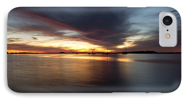 Amelia Island Sunset IPhone Case by Wade Brooks