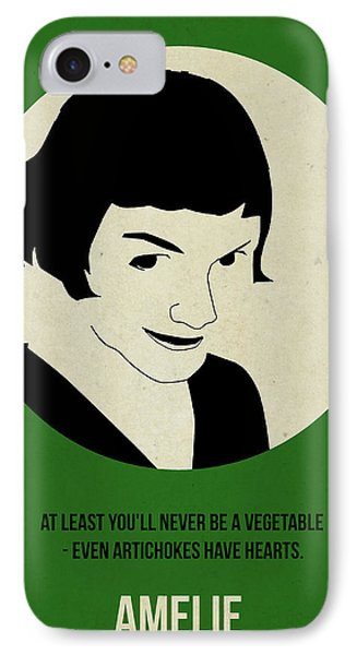Amelie Poster Phone Case by Naxart Studio