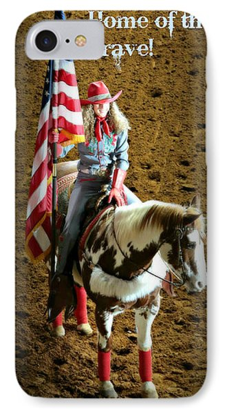 America -- Rodeo-style IPhone Case by Stephen Stookey