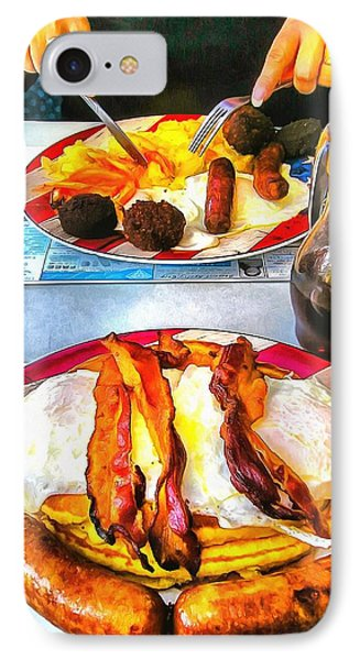 American Breakfast In New York City IPhone Case by Mick Flynn