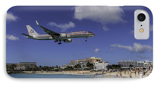 American Airlines At St. Maarten IPhone Case by David Gleeson