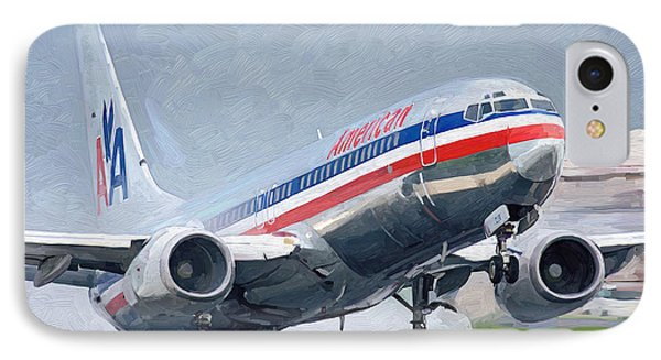 American Airlines Taking Off IPhone Case by Nop Briex