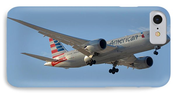 American American Airlines First Boeing 787-823 N800an Landing Phoenix Sky Harbor March 7 2015  IPhone Case